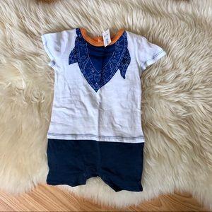 ☀️3/$20☀️Joe Fresh summer onesie blue orange